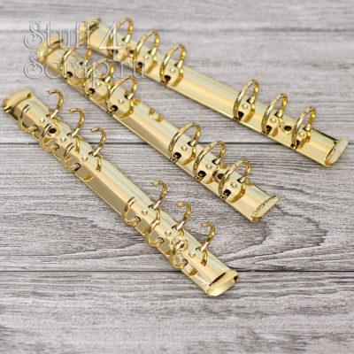 Кольцевой механизм на 6 колец 2 мм, А6, с креплением клепки, золото