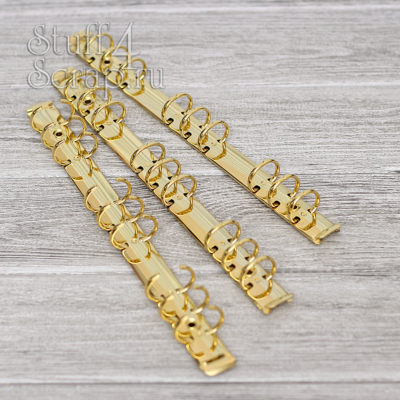 Кольцевой механизм на 9 колец 2 мм, B5, с креплением винтик, золото