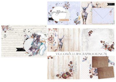"""Печатный блок для альбома """"Winter Time"""", 21х21 см или с длинным корешком"""