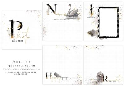 """Печатный блок для альбома (ежедневника) """"Photo Album"""", 21х21 см"""