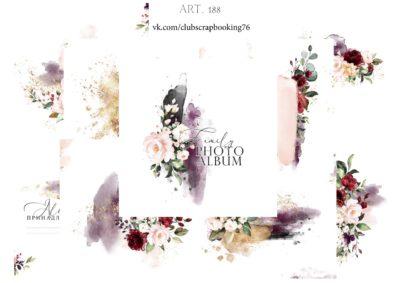 "Печатный блок для альбома ""Family photoalbum"", 21х21 см"