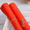 Кожзам мягкий матовый на флисе, оранжевый, 35*45 см
