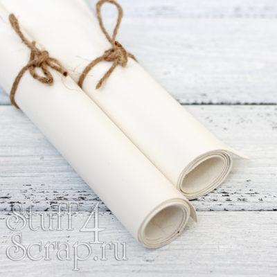 Кожзам мягкий матовый, белый, 35*45 см