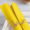 Кожзам мягкий матовый, желтый, 35*45 см