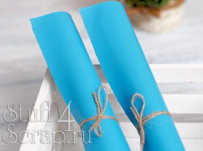Кожзам мягкий матовый, темно-голубой, 35*45 см