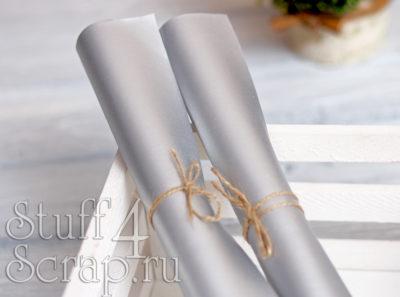 Кожзам мягкий матовый, серебро, 35*45 см