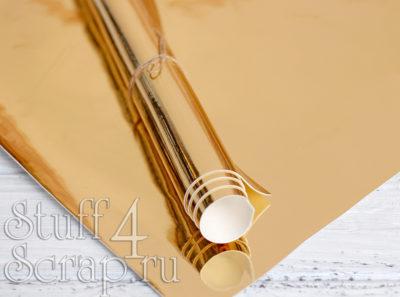Кожзам «Зеркальный», светлое золото, 35*45 см