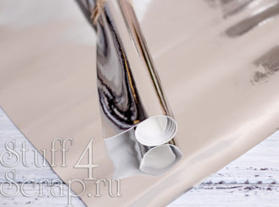 Кожзам «Зеркальный», серебро, 35*45 см