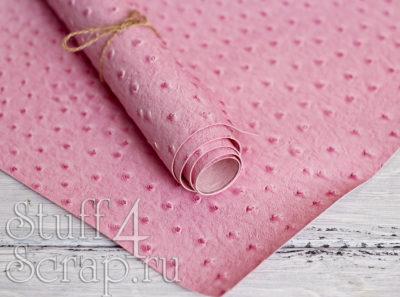 Кожзам «Игуана», нежно розовый, 45х35 см