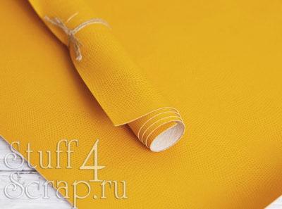 Кожзам «Питон», желтый, 42х35 см