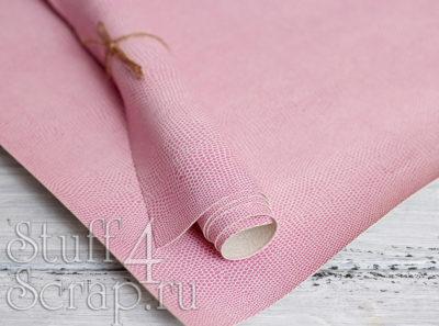 Кожзам «Питон», светло розовый, 42х35 см