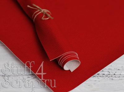 Кожзам «Питон», красный, 45х35 см