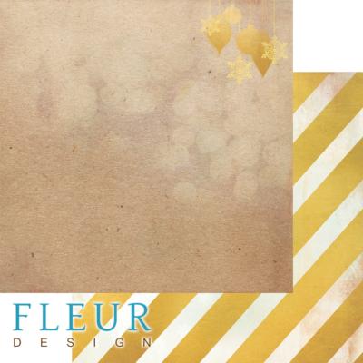 """Лист бумаги """"Елочные игрушки"""", коллекция """"Волшебный лес"""" (Fleur design), 30х30 см"""