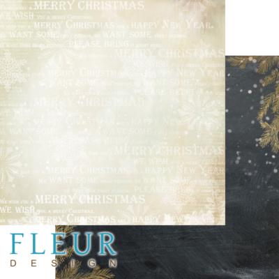 """Лист бумаги """"Волшебство"""", коллекция """"Волшебный лес"""" (Fleur design), 30х30 см"""