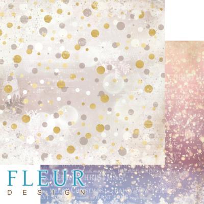 """Лист бумаги """"Снежное сияние"""", коллекция """"Волшебный лес"""" (Fleur design), 30х30 см"""