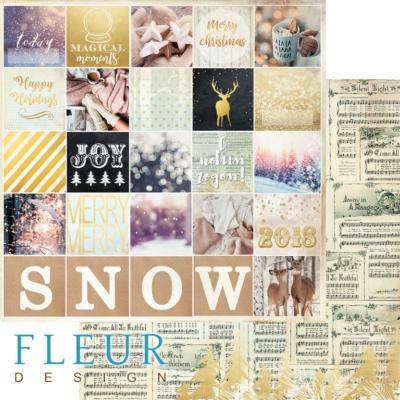 """Лист бумаги """"Волшебный момент"""", коллекция """"Волшебный лес"""" (Fleur design), 30х30 см"""