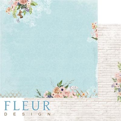 """Лист бумаги """"Бирюза"""", коллекция """"Очарование"""" (Fleur design), 30х30 см"""