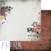 """Лист бумаги """"Кирпичная стена"""", коллекция """"Город контрастов"""" (Fleur design), 30х30 см"""