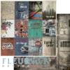 """Лист бумаги """"Карточки"""", коллекция """"Город контрастов"""" (Fleur design), 30х30 см"""