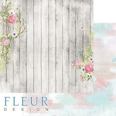 """Лист бумаги """"Палисадник"""", коллекция """"Дыхание весны"""" (Fleur design), 30х30 см"""