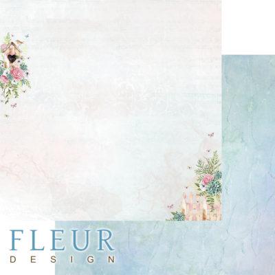 """Лист бумаги """"Скворечник"""", коллекция """"Дыхание весны"""" (Fleur design), 30х30 см"""