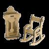 "3D фигурки шедоубокса №56 ""Кресло и Часы"" (Фабрика Декору)"