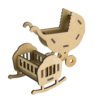 "3D фигурки шедоубокса №57 ""Люлька и коляска"" (Фабрика Декору)"