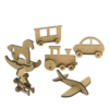 """3D фигурки шедоубокса №59 """"Детские игрушки"""" (Фабрика Декору)"""