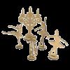 "3D фигурки шедоубокса №65 ""Балерины"" (Фабрика Декору)"