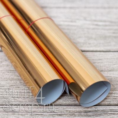 Термотрансферная пленка Metallic, зеркальная бронза, 25х25 см