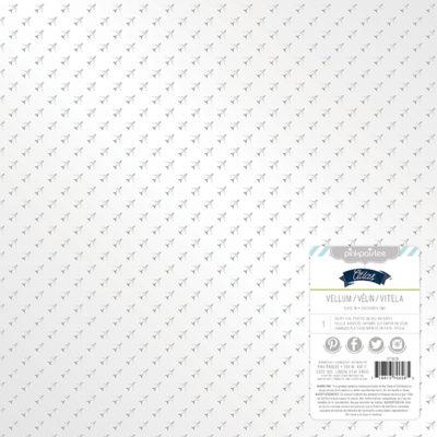"Веллум ""Серебряные самолеты"" (Pink Paislee), 30х30 см"