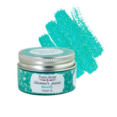 """Краска с глиттером """"Shimmer paint"""", цвет Баунти (Фабрика Декора), 30 мл"""