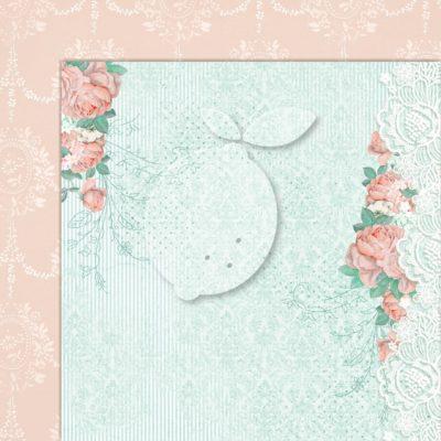 "Лист бумаги коллекции ""LOVE OF MY LIFE-01"" (Lemon Craft), 30,5х30,5 см"