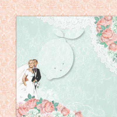 "Лист бумаги коллекции ""LOVE OF MY LIFE-02"" (Lemon Craft), 30,5х30,5 см"
