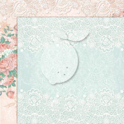 "Лист бумаги коллекции ""LOVE OF MY LIFE-03"" (Lemon Craft), 30,5х30,5 см"