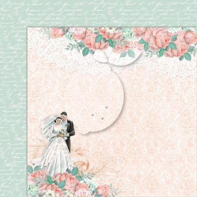 "Лист бумаги коллекции ""LOVE OF MY LIFE-04"" (Lemon Craft), 30,5х30,5 см"
