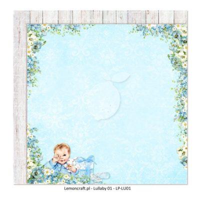 "Лист бумаги коллекции ""Lullaby-1"" (Lemon Craft), 30,5х30,5 см"