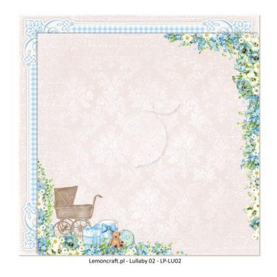 "Лист бумаги коллекции ""Lullaby-02"" (Lemon Craft), 30,5х30,5 см"
