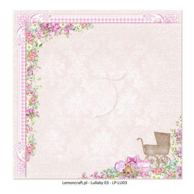 "Лист бумаги коллекции ""Lullaby-03"" (Lemon Craft), 30,5х30,5 см"