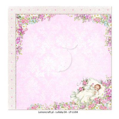 "Лист бумаги коллекции ""Lullaby-4"" (Lemon Craft), 30,5х30,5 см"