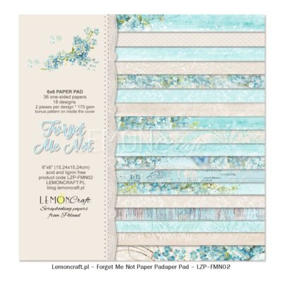 """Набор бумаги коллекции """"Незабудка"""" (Lemon Craft), 36 л, 15*15 см"""