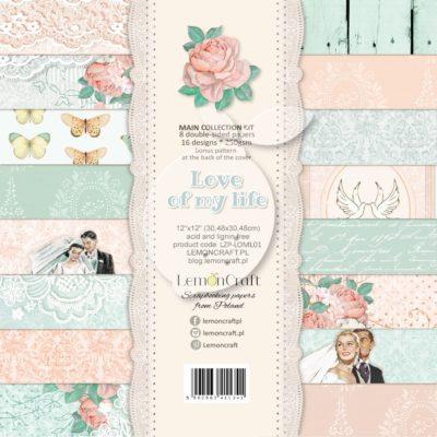 "Набор бумаги коллекции ""LOVE OF MY LIFE"" (Lemon Craft), 8 л, 30,5х30,5 см"