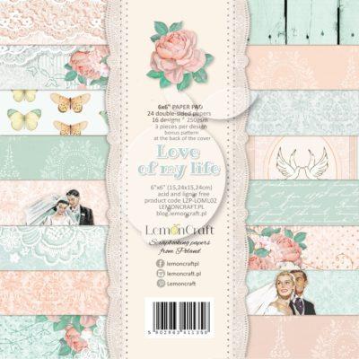 """Набор бумаги коллекции """"LOVE OF MY LIFE"""" (Lemon Craft), 36 л, 15*15 см"""