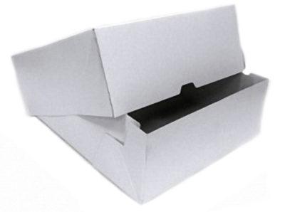 Картонная коробка, белая, 25*25 см