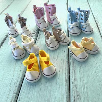 Обувь для кукол, кеды 5 см