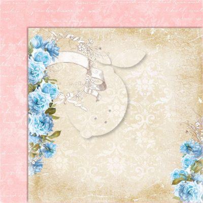 "Лист бумаги коллекции ""Sense and sensibility-01"" (Lemon Craft), 30,5х30,5 см"