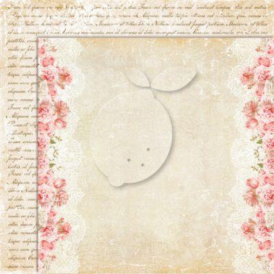 "Лист бумаги коллекции ""Sense and sensibility-02"" (Lemon Craft), 30,5х30,5 см"