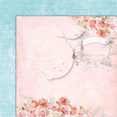 "Лист бумаги коллекции ""Sense and sensibility-06"" (Lemon Craft), 30,5х30,5 см"