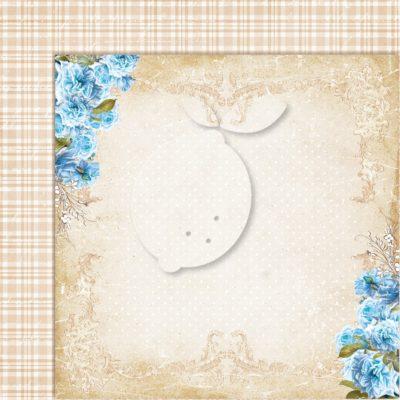 "Лист бумаги коллекции ""Sense and sensibility-08"" (Lemon Craft), 30,5х30,5 см"