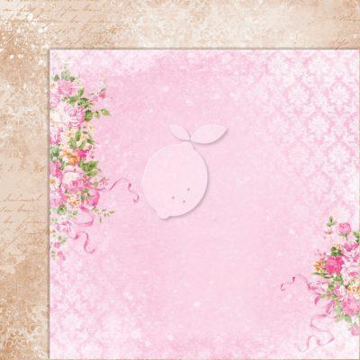"Лист бумаги коллекции ""Sweet Secrets-01"" (Lemon Craft), 30,5х30,5 см"